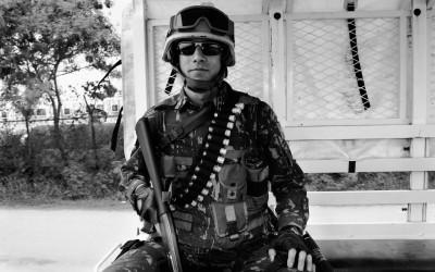 Peacekeeper in mission, Port-Au-Prince, Haiti, 2012.