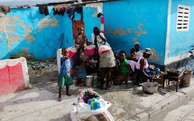 Family in Citè Soleil, Port-au-Prince, Haiti, 2012.