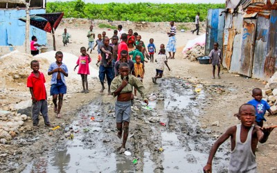 In many areas of Port-Au-Pince, children wait the whole day for food or some aid, Haiti, 2012.