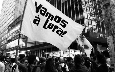 "Movement ""Zero Tariff"" already existed before the Fifa event, but gained force during the protest against the World Cup in Brazil, country with several social emergencies, Belo Horizonte, 2014."