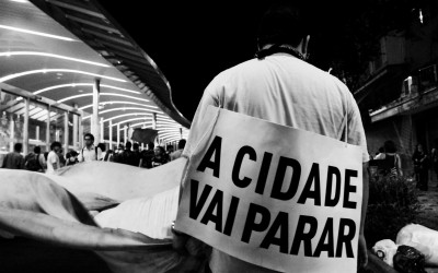 Some days before the World Cup aperture, posters were placed along the city, threatening to prevent the event, Belo Horizonte, Brazil, 2014.