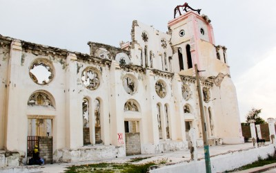Two years after the earthquake it is still is possible to notice almost all the damage, inclusively in Cathedral of Our Lady of the Assumption, Port-au-Prince, Haiti, 2012.