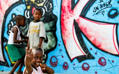 Neighborhoods known for the high crime rate and poverty are beginning to be known also for the street art that is growing more and more. Encouraging and inspiring children and young people to seek new paths. Cité Soleil, Port-Au-Prince, Haiti, 2012.