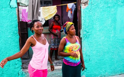 "Cité Soleil residents after the project ""Quarter Clean"" by UN, Port-Au-Prince, Haiti, 2012."