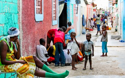 """Cité Soleil after the project """"Quarter Clean"""" by UN, which revitalized a small part of a neighborhood to inspire residents to keep their spaces clean and well maintained. Port-Au-Prince, Haiti, 2012."""