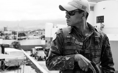 In the dangerous region Cité Soleil UN Mission has an observation post to intervene rapidly, Port-Au-Prince, Haiti, 2012. -17
