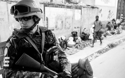 Peacekeepers in mission, Port-Au-Prince, Haiti, 2012.