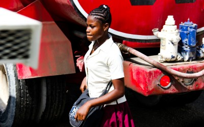 Woman student in Port-Au-Prince, Haiti, 2012.