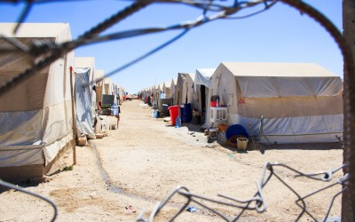 One of the many corridors of the Sharia Refugee Camp, which shelters the Yazidi ethnicity. Only after the ISIS's advance and threat of genocide against the Yazidi ethnicity, an international coalition led by the USA was created. Its purpose was launching air strikes on the Northern Iraq and helping the Peshmerga's strategic work., Duhok, Iraq (Iraqi Kurdistan).