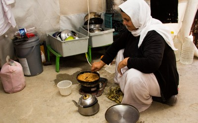 Interior of the tent - kitchen. Cover II Refugee Camp, Iraq (Iraqi Kurdistan).
