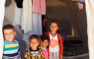 Yazidi family in Sharia Refugee Camp, near Duhok, Iraq (Iraqi Kurdistan).