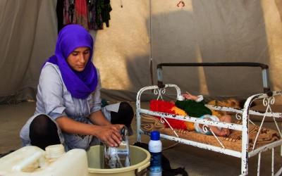 Reality of many families inside the Refugee Camps.  Sharia Camp, near Duhok, Iraq (Iraqi Kurdistan).