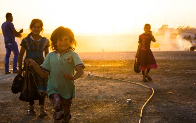 Children in Sharia Refugee Camp, near Duhok, Iraq (Iraqi Kurdistan).