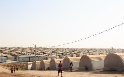 Refugee Camp Cover II, near Duhok, Iraq (Iraqi Kurdistan).