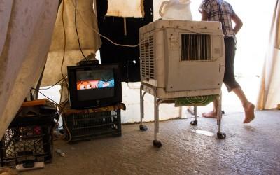 Residencial tent in Sharia Refugee Camp, near Duhok, Iraq (Iraqi Kurdistan).