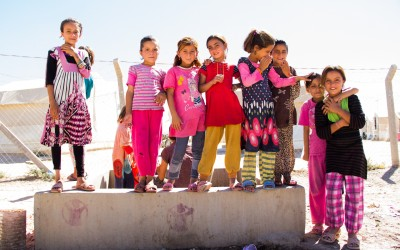 Sheltering more than 9,000 Yazidi families, Sharia Refugee Camp has several problems. One is the lack of schools for all children and adolescents, Duhok, Iraq (Iraqi Kurdistan).