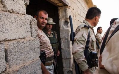 Frontline near Mosul, Iraq (Iraqi Kurdistan).