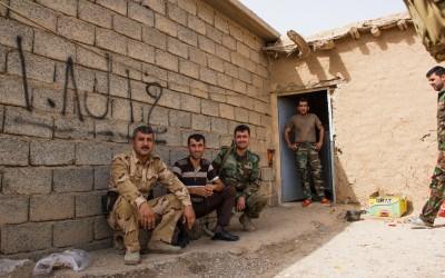 Peshmergas Base near Mosul, Iraq (Iraqi Kurdistan).